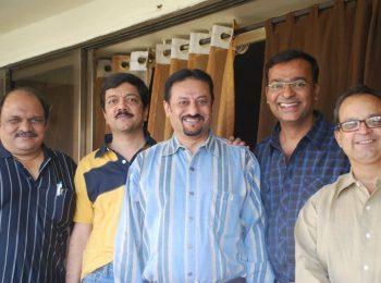 Dr.-Sanjay-Joshi-Deepak-Muchhala-Dr.-Devidas-Jatkar-Mukul-Dabholkar-IDA-Meeting-at-Dr.-Mukul-Dabholkar's-Residence-On-23012011